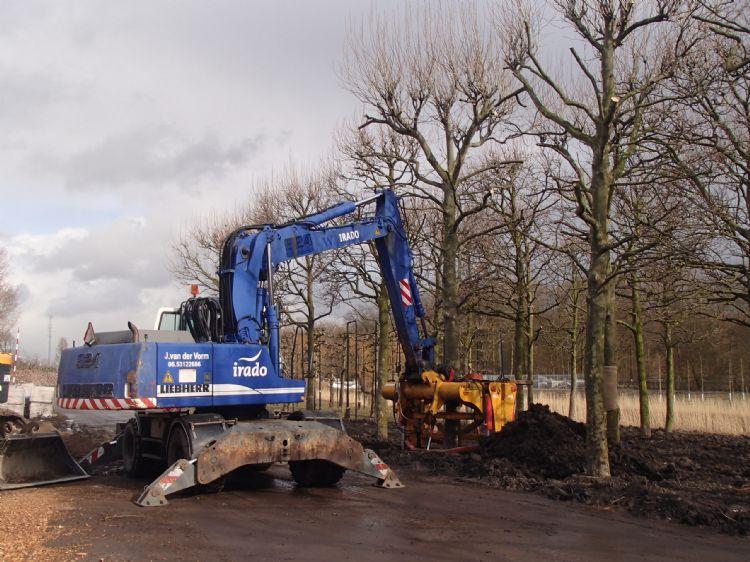 Van de Vondervoort stond aan de wieg van het huidige Rotterdamse bomendepot, samen met collega Ronald Loch.