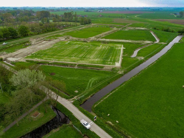 Dronebeelden van de sportvelden in Winsum.