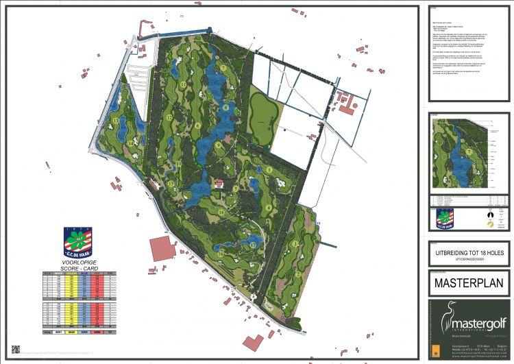 Het masterplan, ontworpen door Steensels.