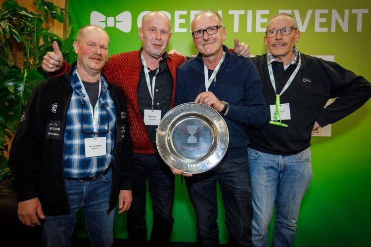 Jaap Verhagen met zijn collega's van de gemeente Zutphen. Foto: Vakbeurs Sportaccommodaties.
