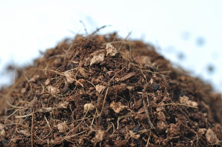 Geofill is een mengel van kokosvezels en kurk.