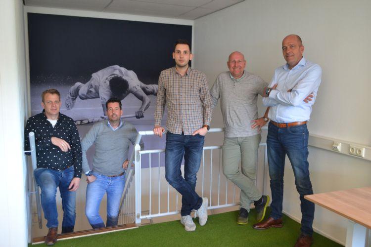 Domo Sports Grass, team Nederland, v.l.n.r.: Wilbert Hogeweij, Bas Reinds, Bart Broekhuis, Sjouk Fluit en Peter Verhoeven