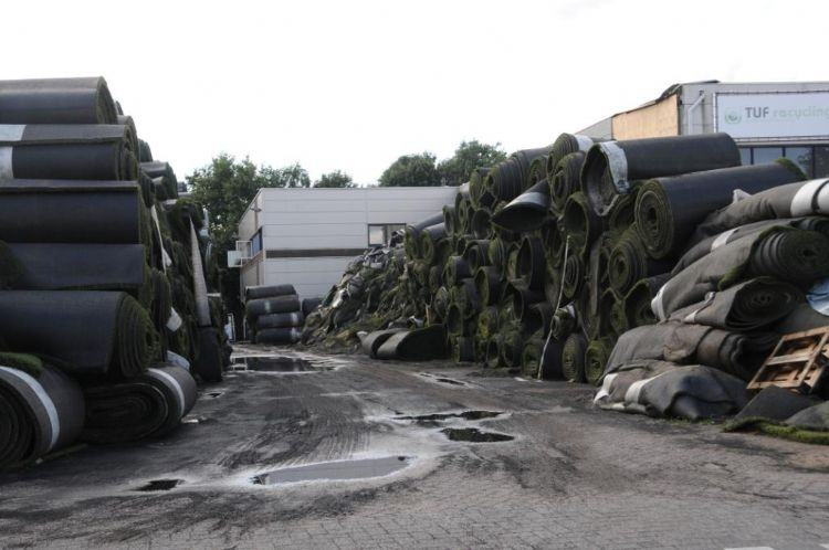 Het terrein van Tuf Recycling in Dongen.