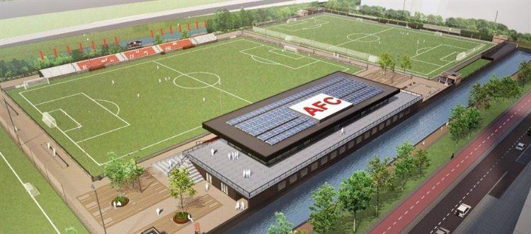 Een impressie van het nieuwe sportpark. Foto: gemeente Amsterdam.