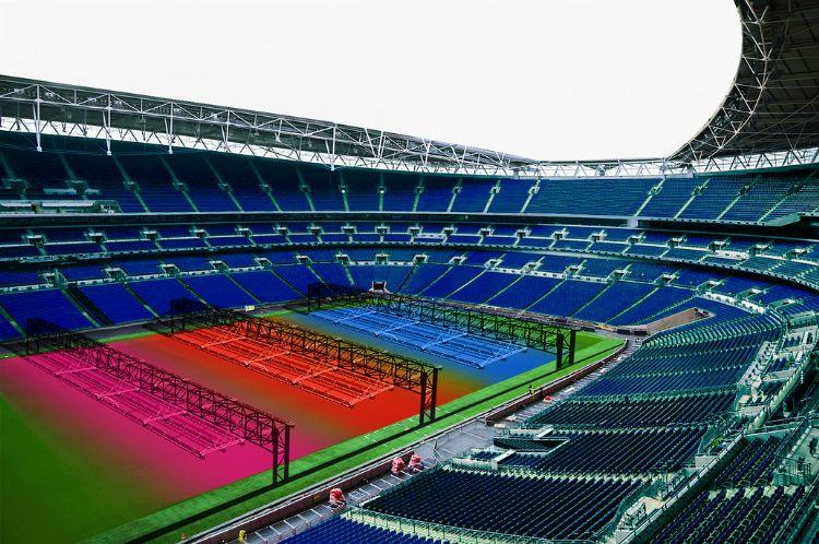 De R-BL (ontwikkeld door RSI en Rhenac) is een volledig geautomatiseerd systeem dat beregening-, verwarming- en bemestingstechnologie allemaal in één systeem combineert. Het systeem kan in de meeste stadions worden ingebouwd.