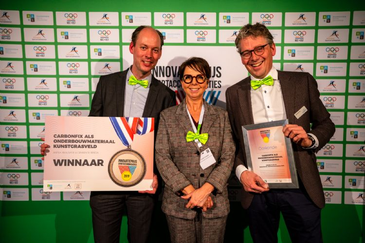 Carbonfix won de Innovatieprijs Sportaccommodaties in 2019.