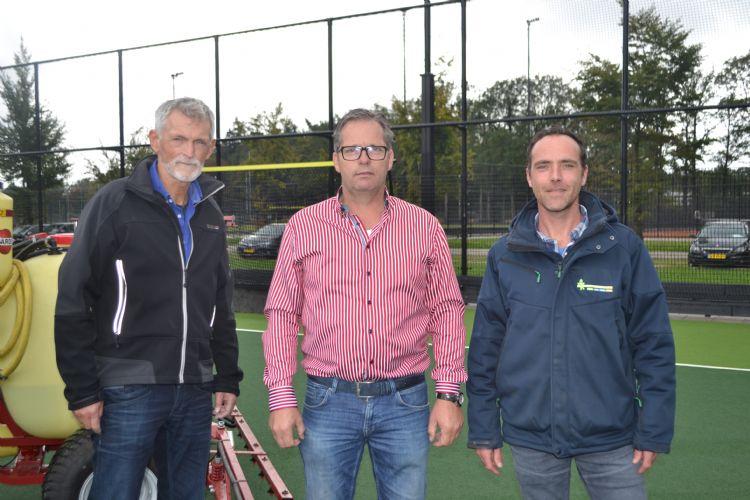 Ewoud van de Wetering (Algavelan), André de Brouwer (Universiteit Twente) en Geert de Haan (Krinkels)