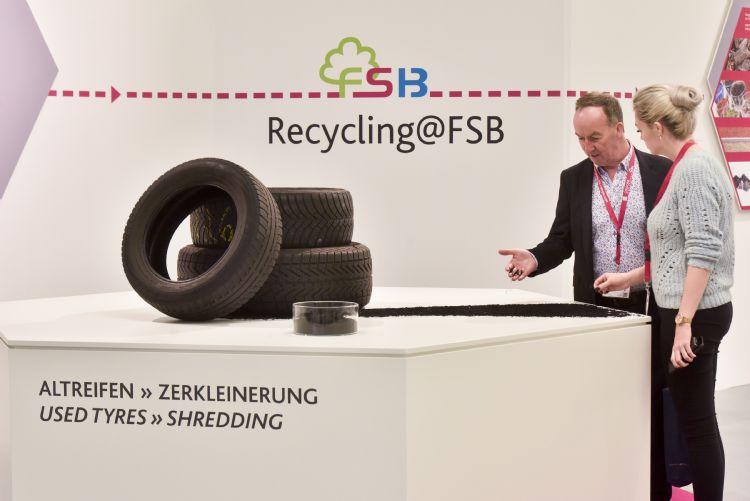 Recycling speelde een belangrijke rol op de FSB (foto: Koelnmesse Image database).