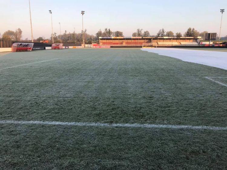 De grasmat van Almere City eerder dit seizoen.