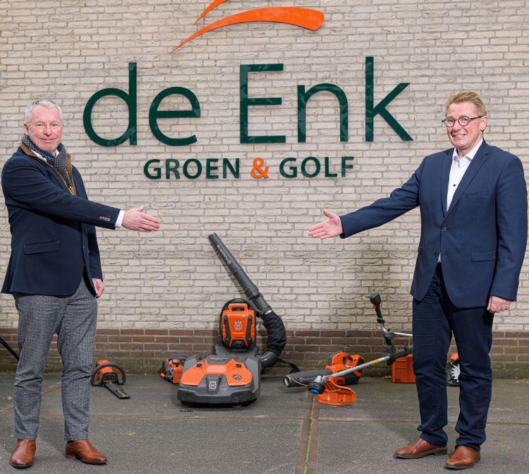 Gerard van der Werf (De Enk) en Anton de Jong (Husqvarna). Foto: Jos Klijn