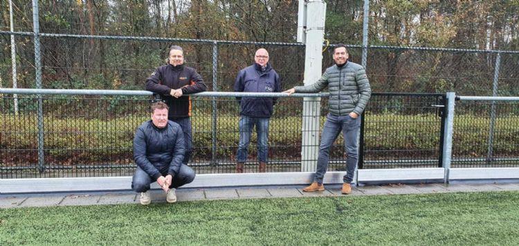 Marco Smits (Topgrass), Jan-Willem Boon (Gras Advies), Pieter Korenhof (SRO) en Michael Oogink (SKOR).