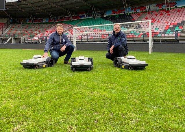 Laurent Maissan (Eurogarden) en Arjen Spek (Milati Grass Machines)