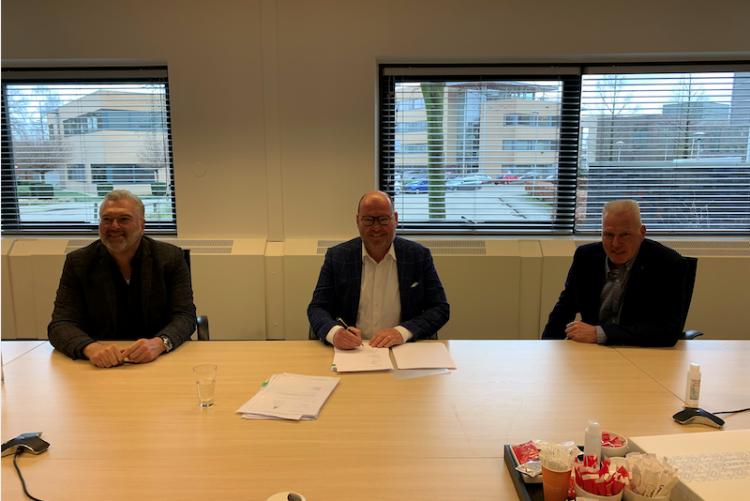 Goof Rijndorp, Olaf Janssen en Kees Ploeg (vlnr)
