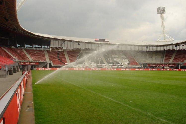 Archieffoto van het stadionveld. Foto: Mölder Sportveldberegening.