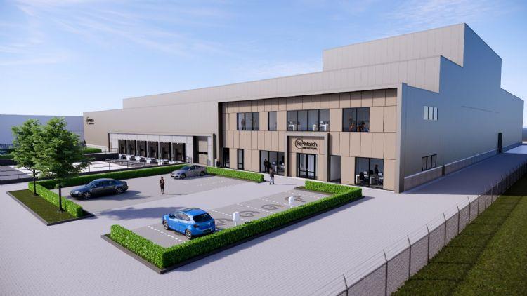 Een impressie van de nieuwe fabriek in Tiel.